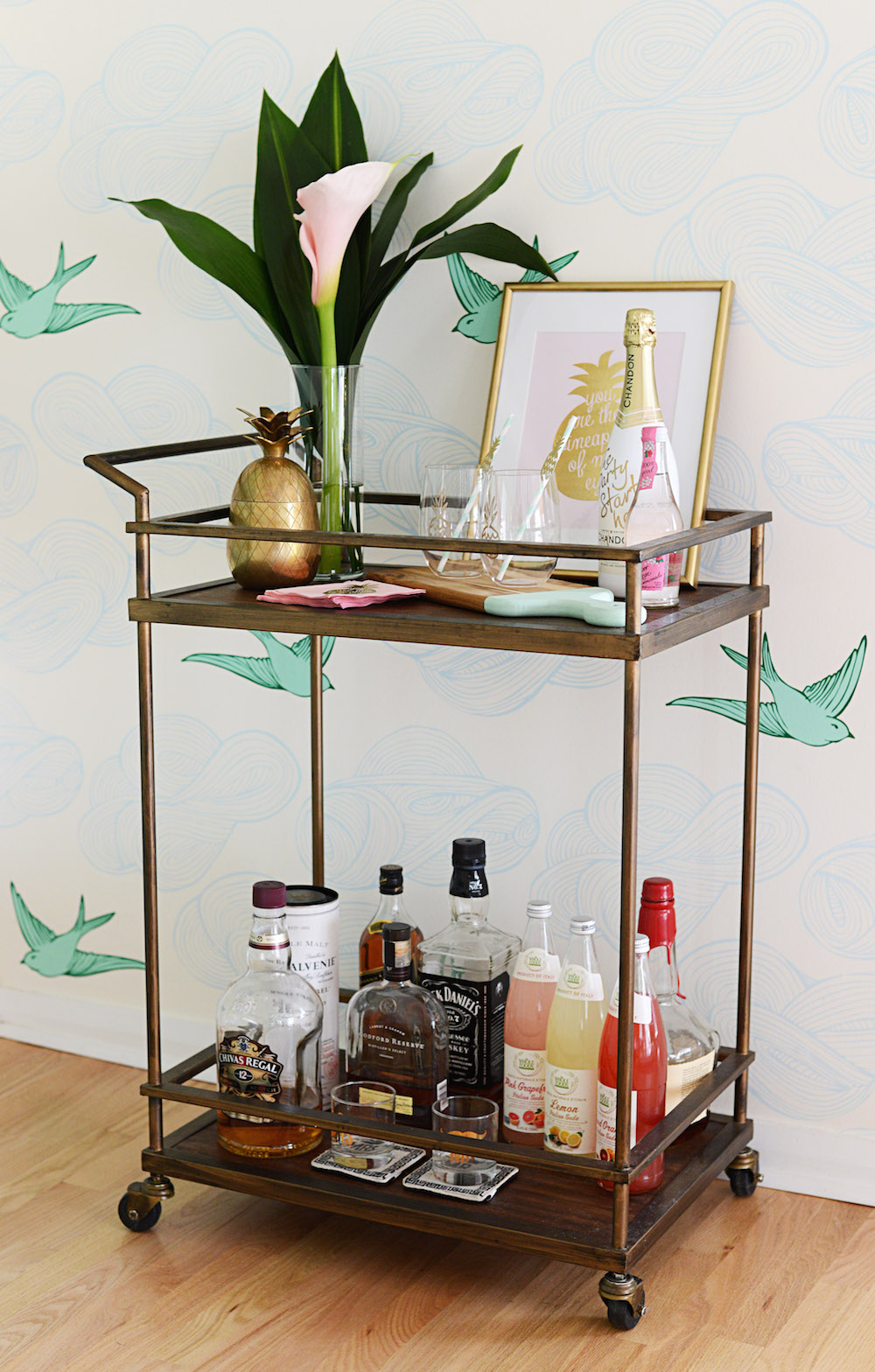 bar_cart_pineapple_gold