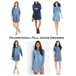 Transitional Fall Jean Dresses