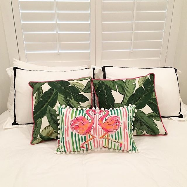 Added the new lillypulitzer flamingo pillow to our palmbeachlately bananahellip