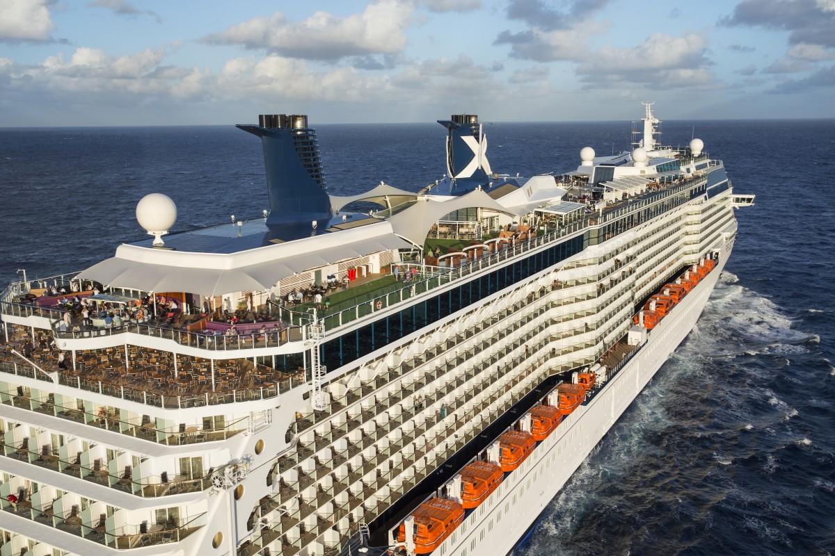 Aerial Celebrity Reflection off Florida coastline on December 2nd Inaugural Cruise Celebrity Reflection - Celebrity Cruises