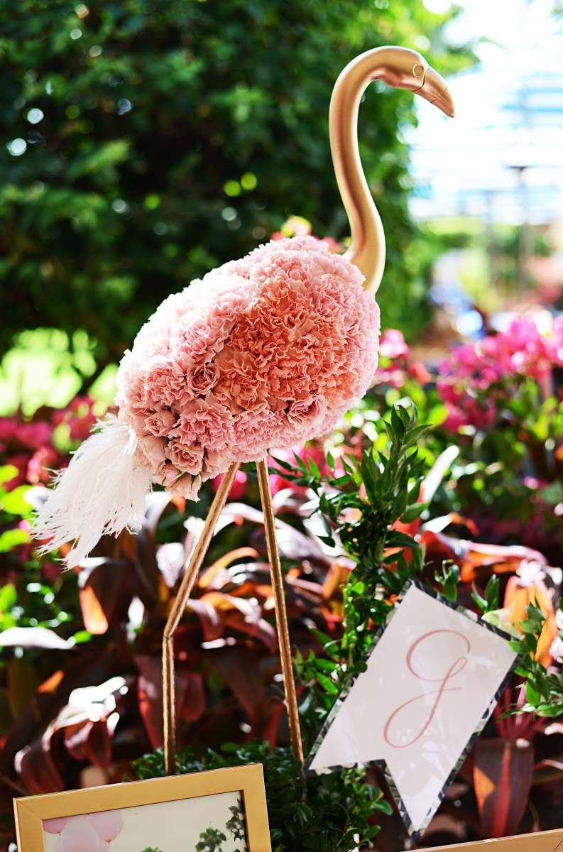 beth s flamingo inspired baby shower palm beach lately