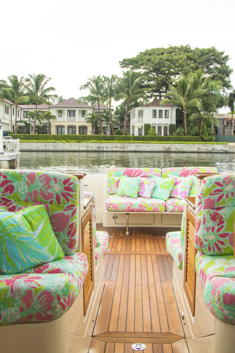 lilly pulitzer x barton & gray's new hinckley yacht | palm beach