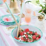 Recipes: Watermelon Feta Salad and Pink Grapefruit Mocktail/Cocktail