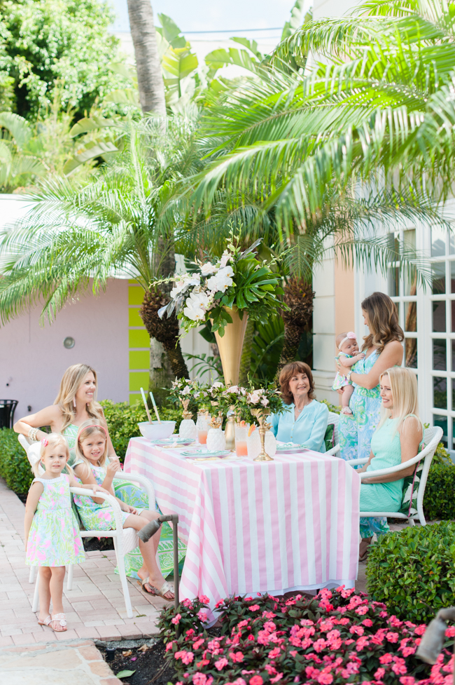 lilly_pulitzer_carleton_varney_frontgate_palm_beach_lately_the_colony_hotel_brunch_ banana_leaf_palm_leaves_pink_mint_green_mothers_day