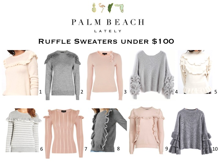 Ruffle Sweaters Under $100