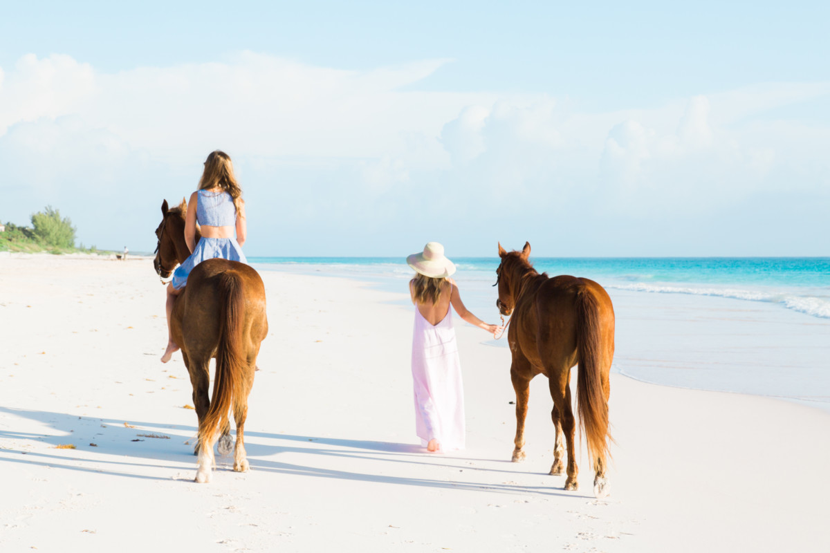Palm Beach Lately Horseback Riding with Island Company in Harbour Island