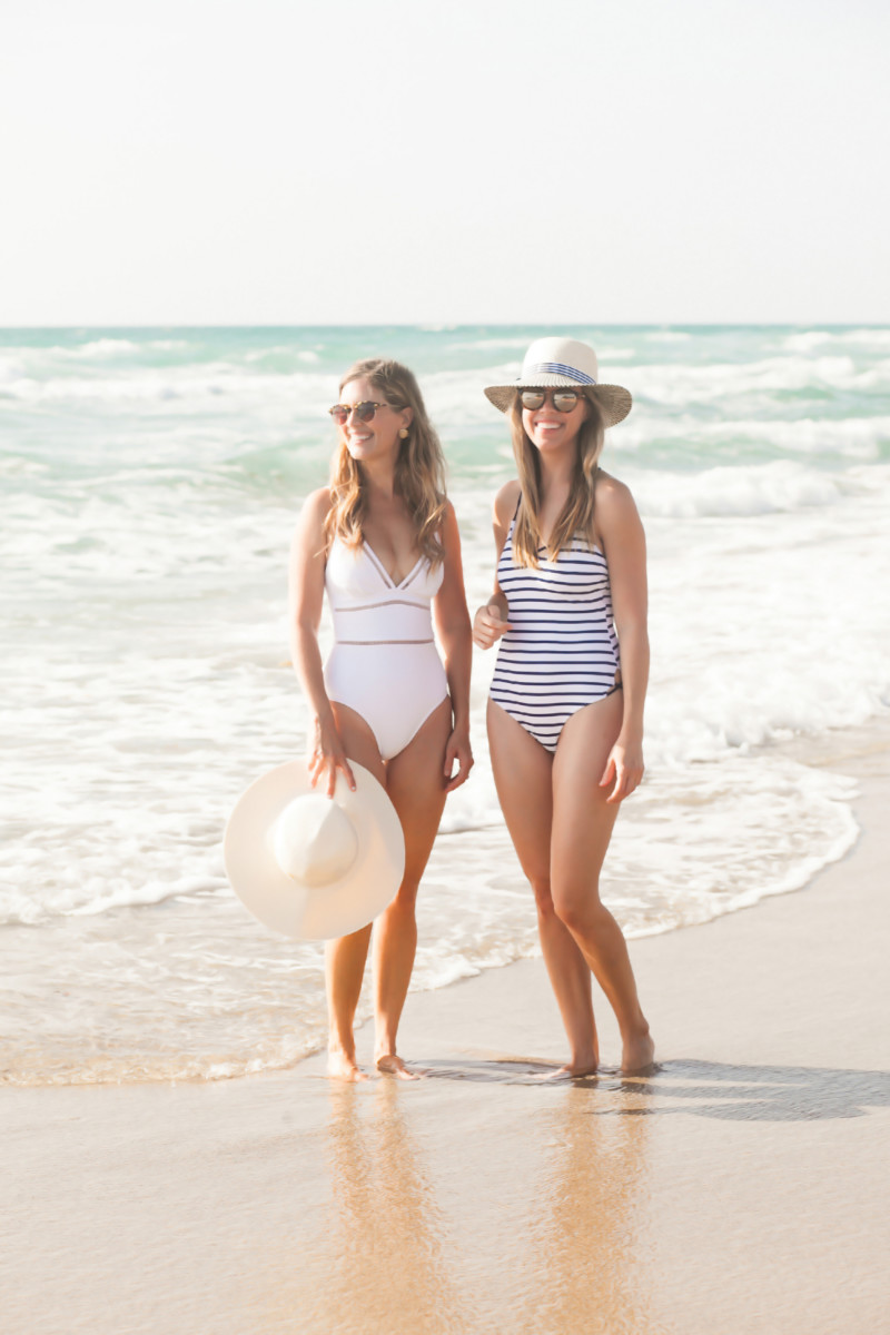 Palm Beach Lately Wearing Lands' End for #nationalswimsuitday
