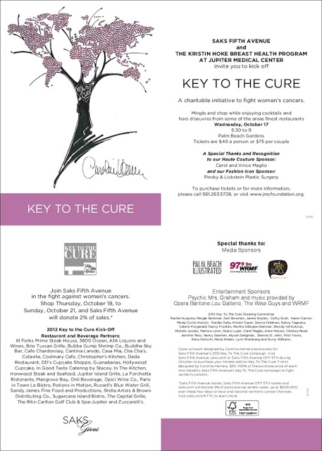 Social 14th Annual Key To The Cure Kickoff At Saks Fifth Avenue Palm Beach Gardens Palm Beach