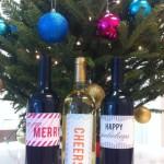 DIY Printable Holiday Wine Labels