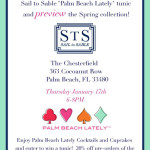 Don't Miss The Boat! Join Sail To Sable And Palm Beach Lately Thursday From 6-8 PM For The Launch Of Our NEW Tunic!