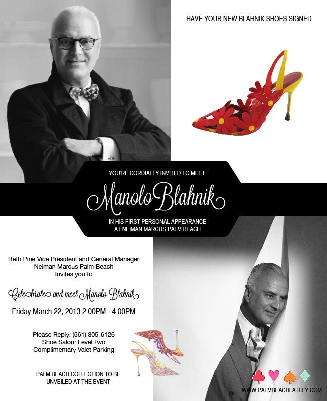 Social: Meet Manolo Blahnik At Neiman Marcus Palm Beach ...