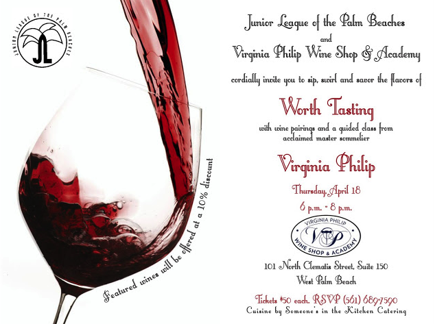 Social Junior League And Virginia Philip Wine Pairing Party Palm