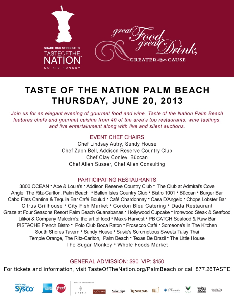 Taste of the Nation, June 20