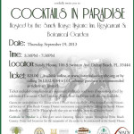 Social: Enjoy Cocktails In Paradise With The Young Friends Of The Historical Society Of Palm Beach County On September 19th