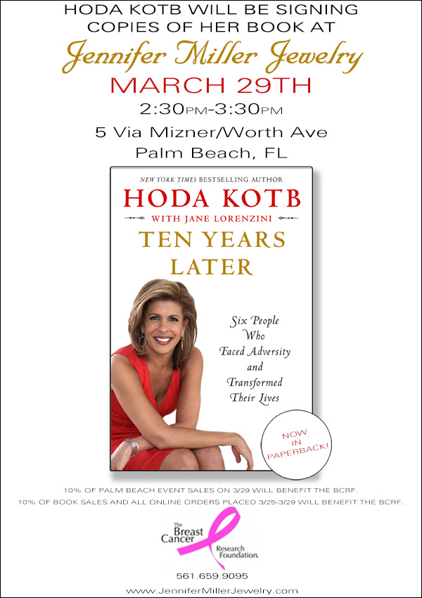 Hoda Kotb Book Signing At Jennifer Miller Jewelry Palm
