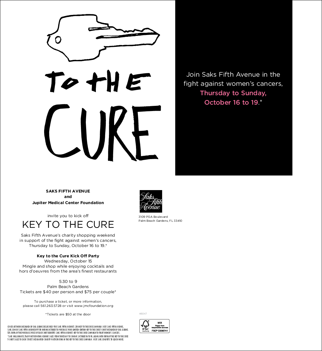 Key to the Cure_postcard save the date