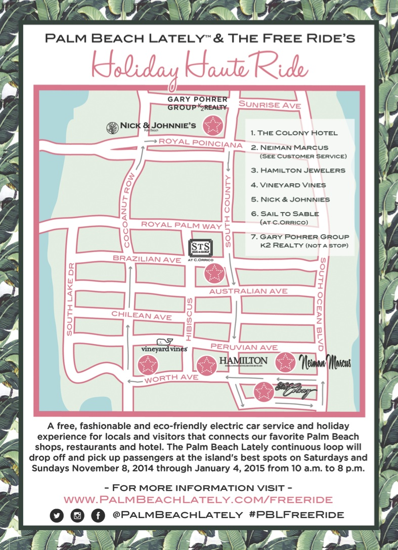 Holiday Haute Ride Map