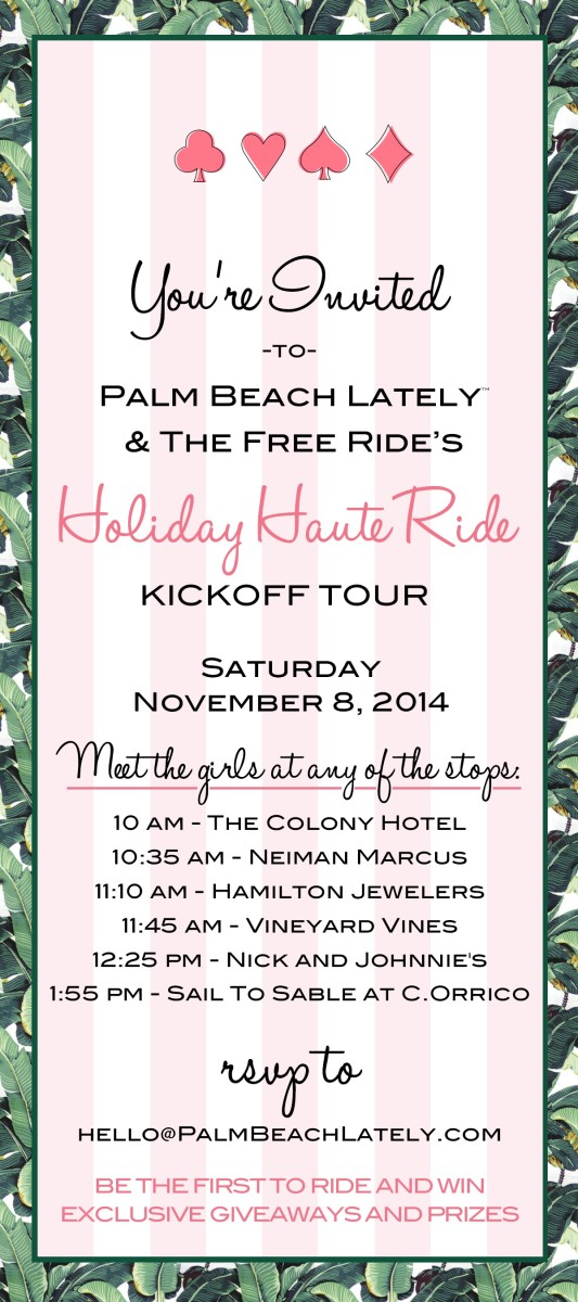 Holiday Haute Ride Kick Off Event