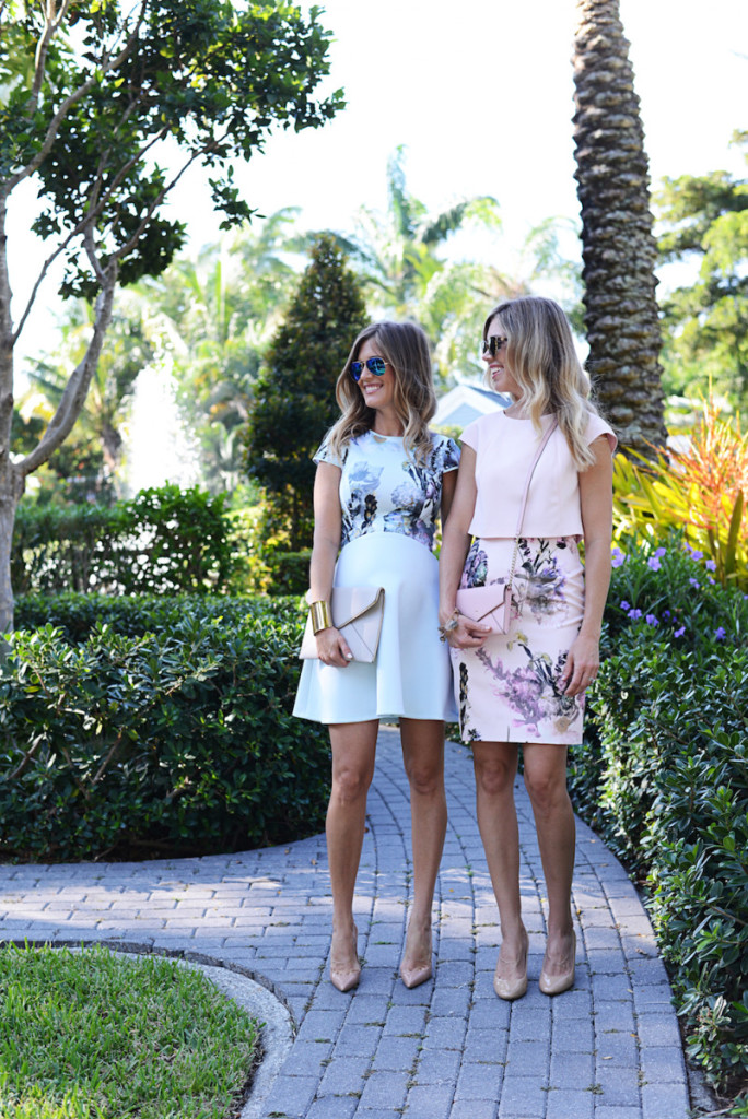 floral_dresses_pink_blue_bag_clutch_sunglasses_flagler_museum