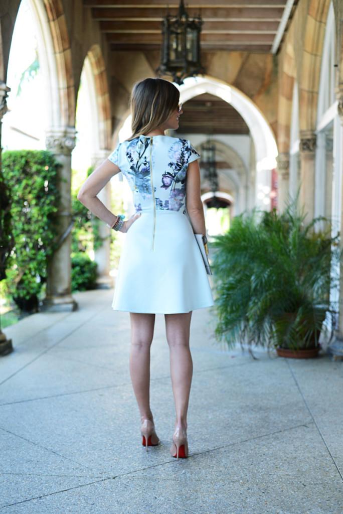 floral_dress_blue_clutch_sunglasses_worth_avenue