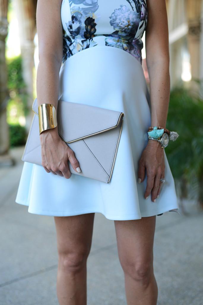 floral_dress_blue_clutch_bracelets_worth_avenue
