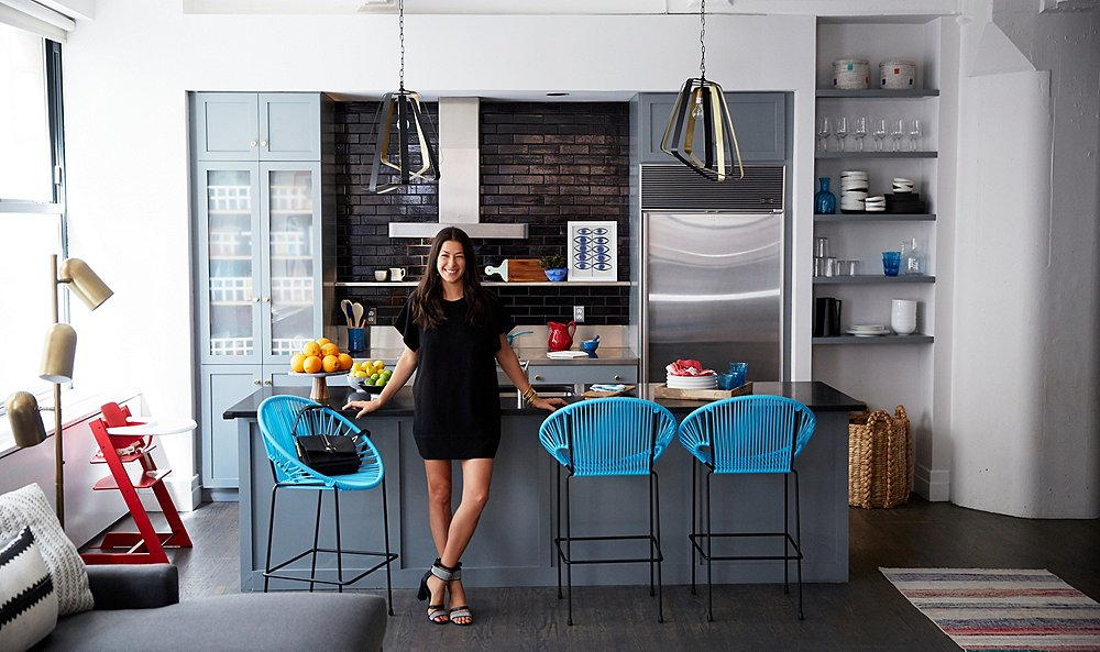 one kings lane_rebecca minkoff_LEAD IMAGE_REBECCA IN KITCHEN