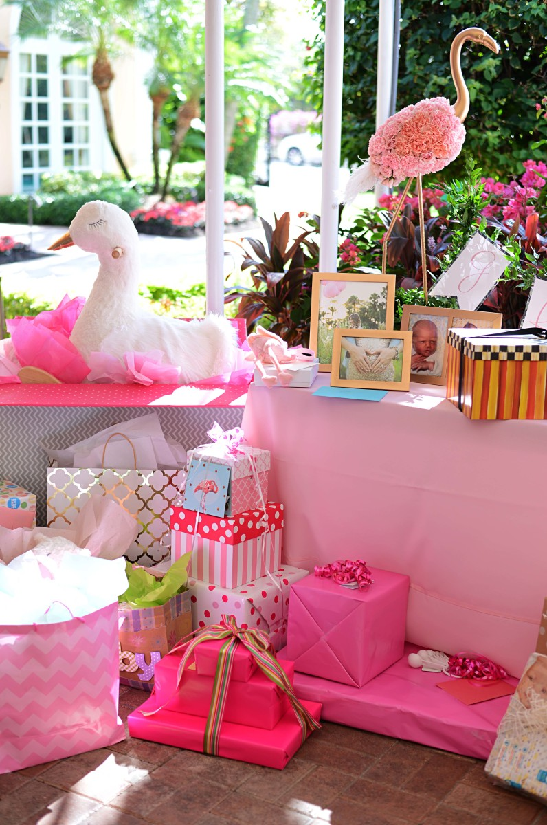 Beths Flamingo Inspired Baby Shower Palm Beach Lately