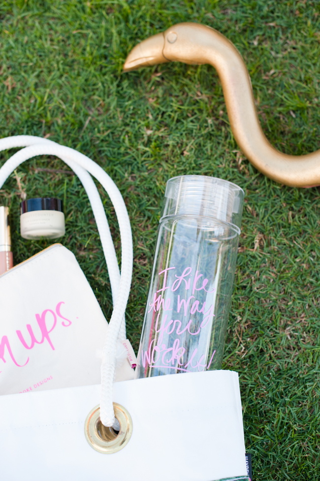 banana_leaf_tote_ water_bottle_cosmetic_case_flamingo_ashley_brooke_designs_palm_beach_lately
