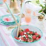 Recipes: Watermelon Feta Salad and Pink Grapefruit Mocktail/Cocktail