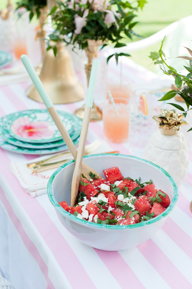 carleton_varney_frontgate_palm_beach_lately_the_colony_hotel_watermelon_feta_mint_almond_salad_brunch_ pink_mint_green_mothers_day