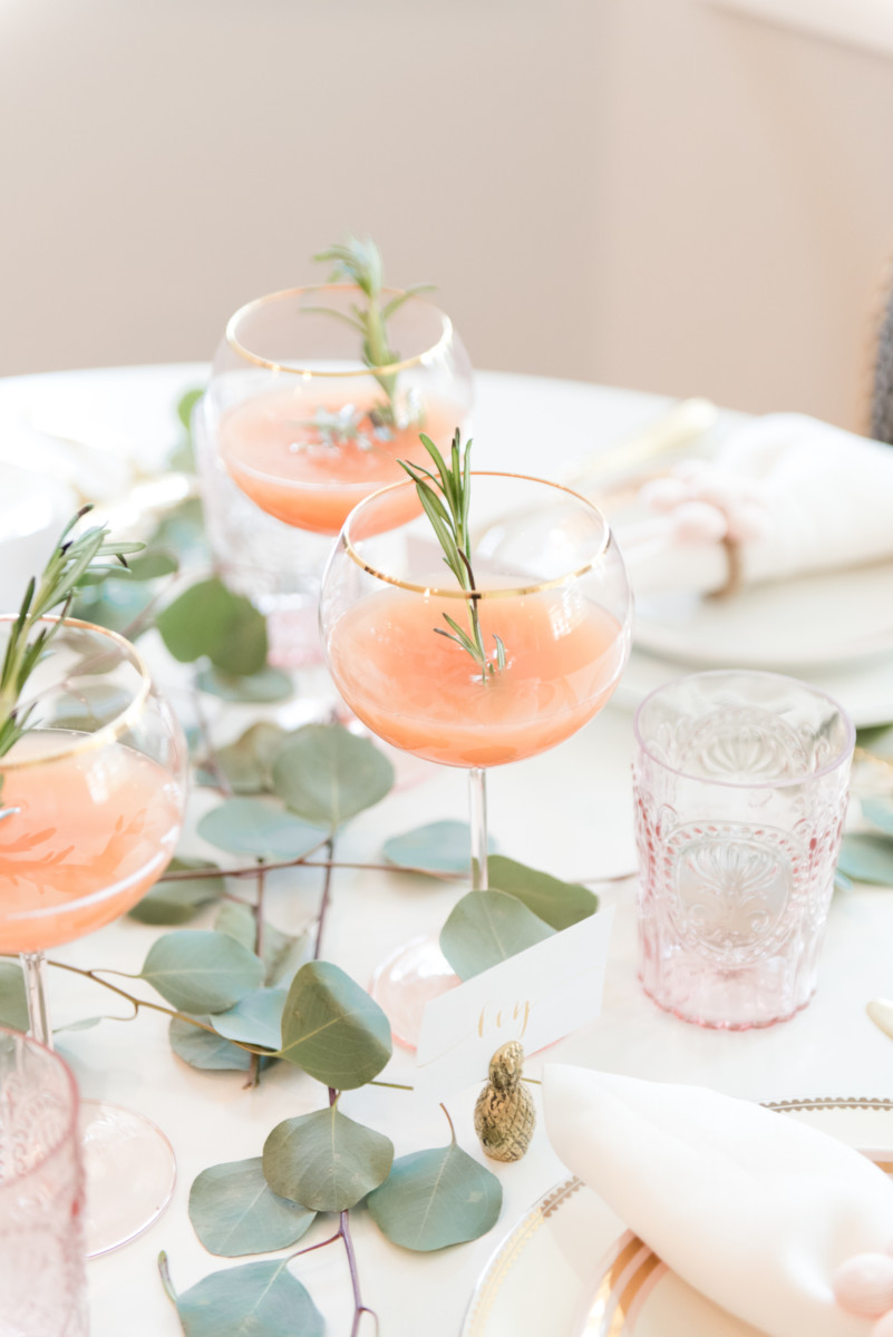 Blush And Gold Holiday Tablescape Palm Beach Lately