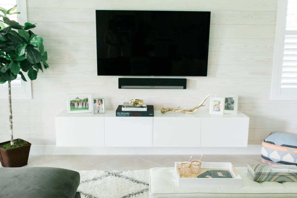 IKEA Hack: DIY Floating TV Console
