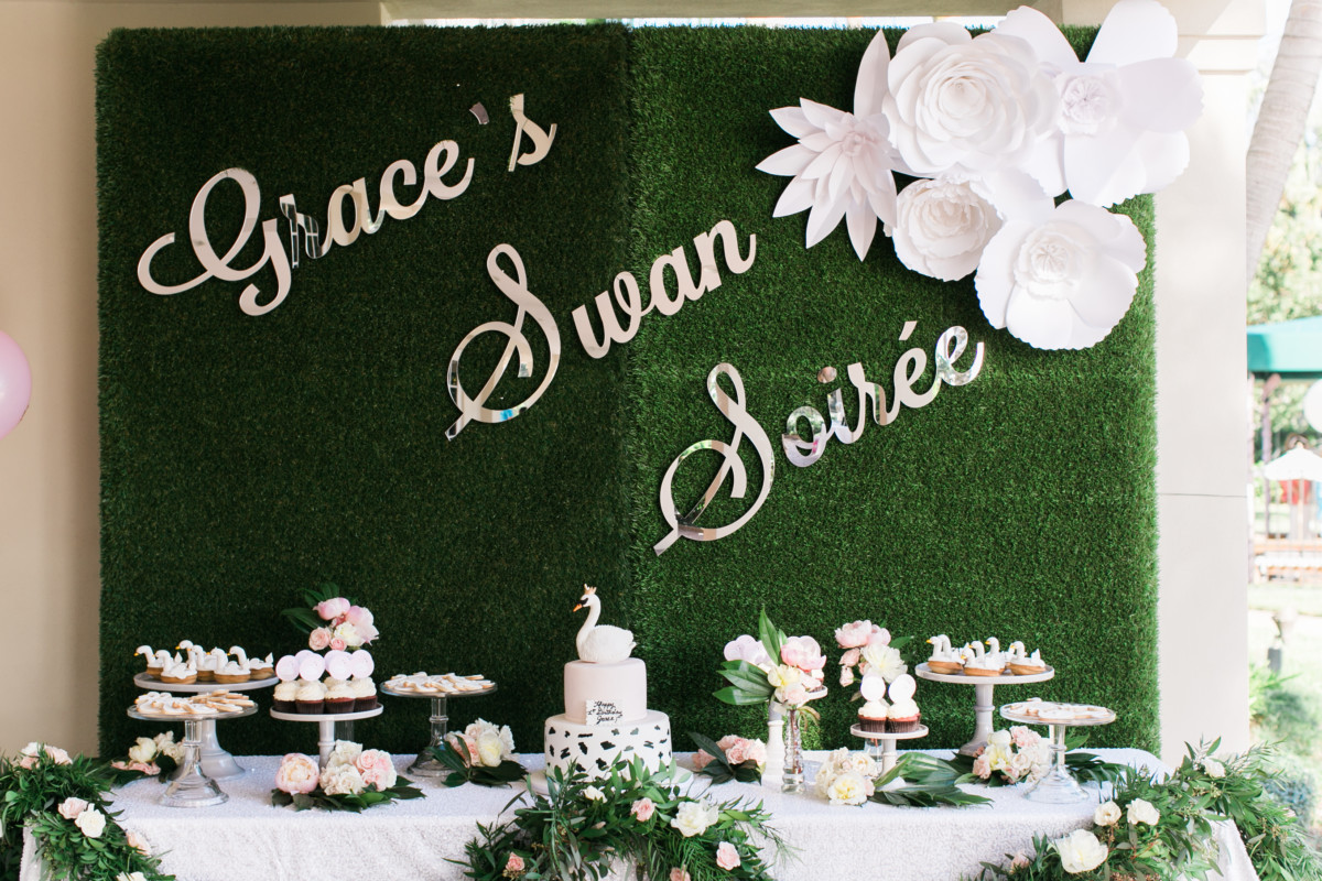 Swan Soiree First Birthday