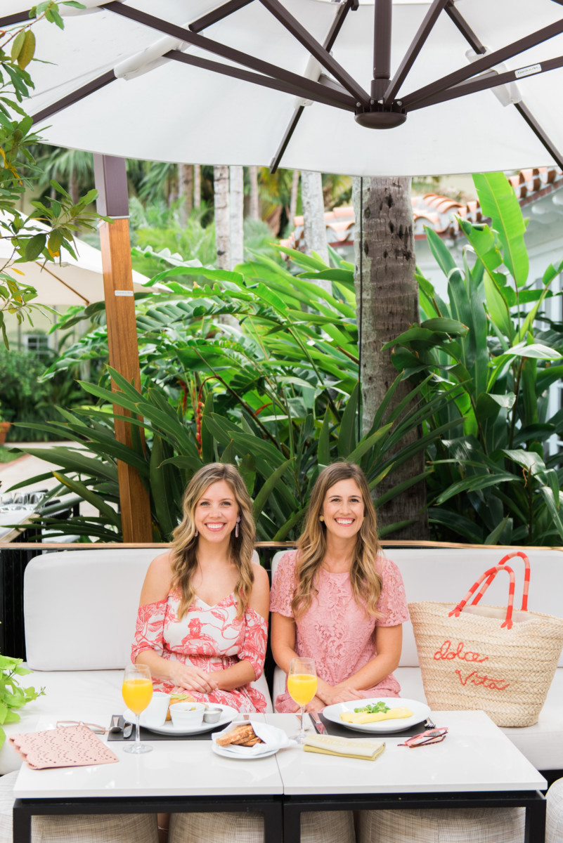 Palm Beach Lately Wearing LOFT at Cafe Boulud at Brazilian Court