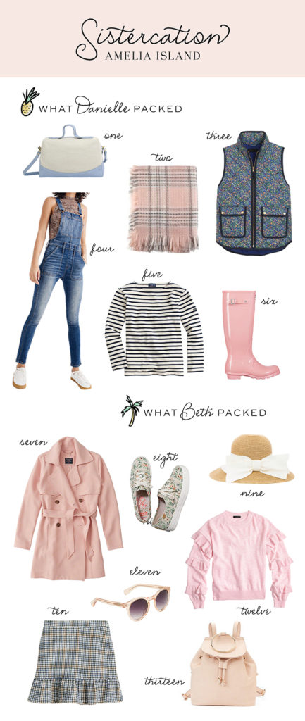 What we packed for amelia island