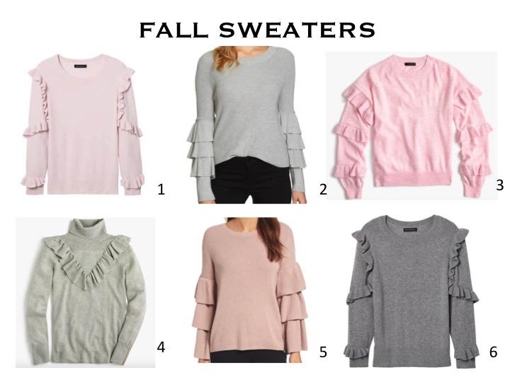 Fashion: Fall Ruffle Sweaters by Palm Beach Lately