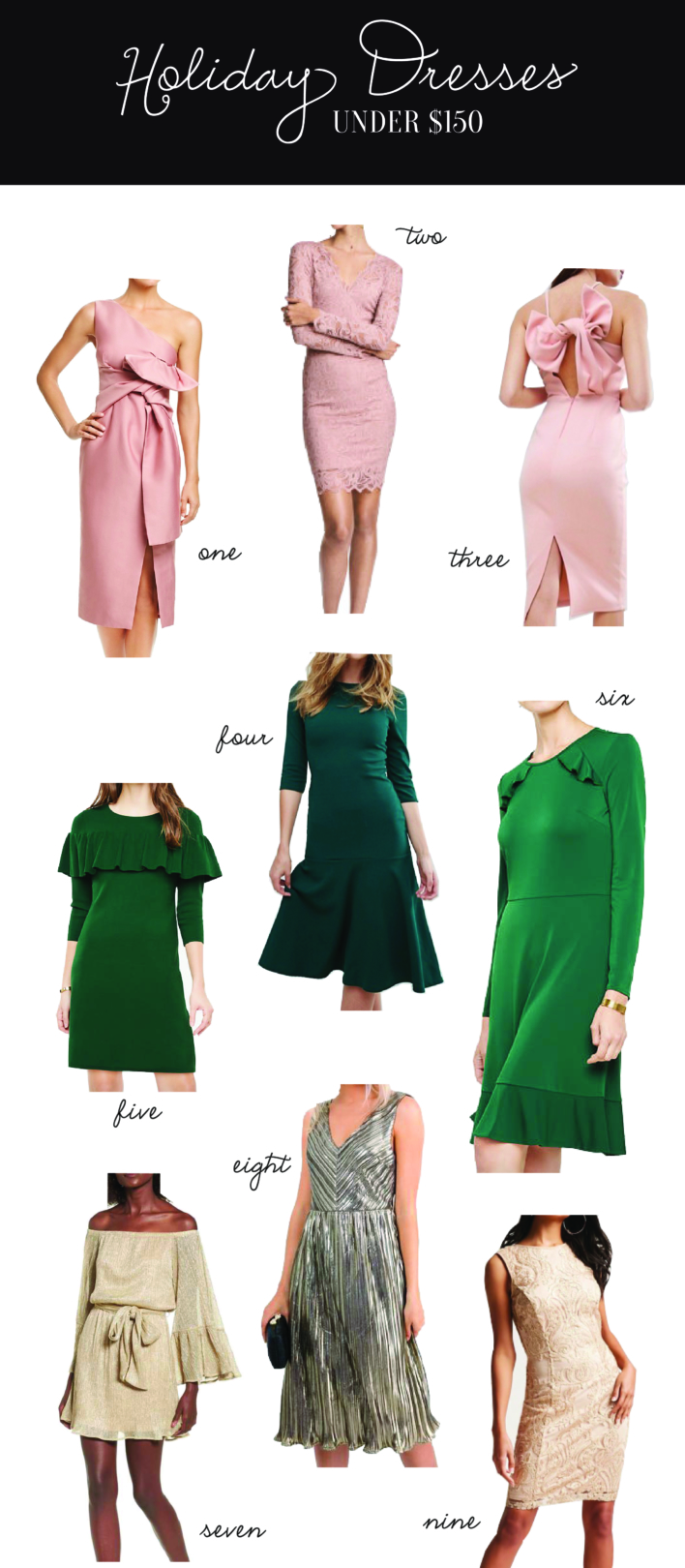 Holiday Dresses Under $150
