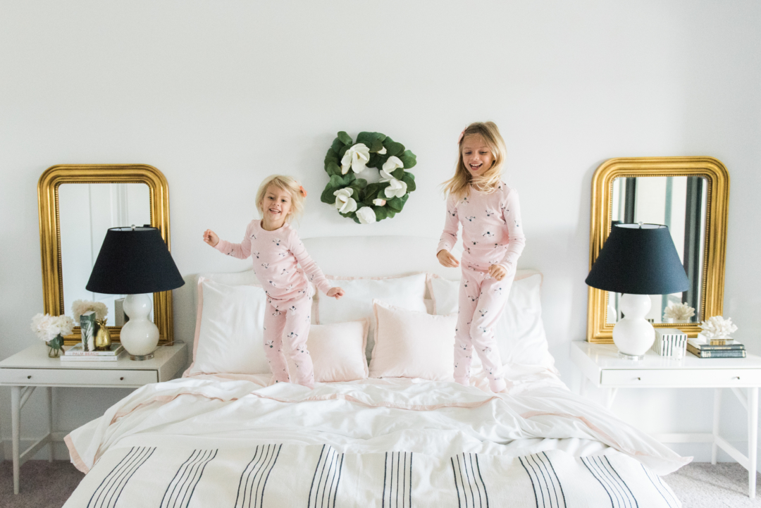 Home: Palm Beach Lately and Serena & Lily Blush Bedding