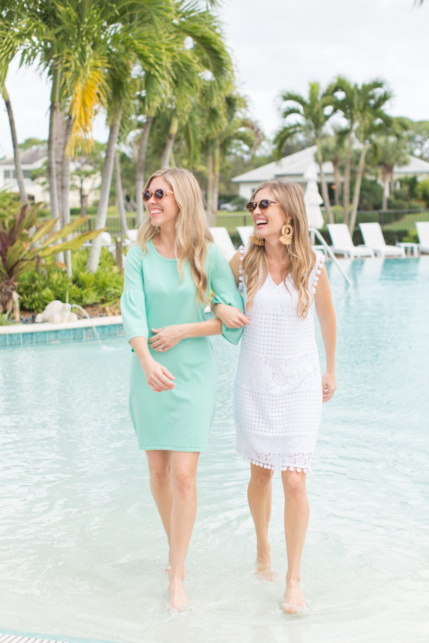 Fashion: Mint and White Sail to Sable with Palm Beach Lately