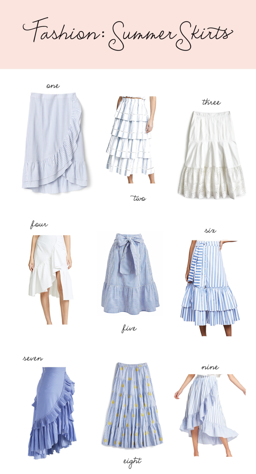 Fashion: Blue Skirts by Palm Beach Lately