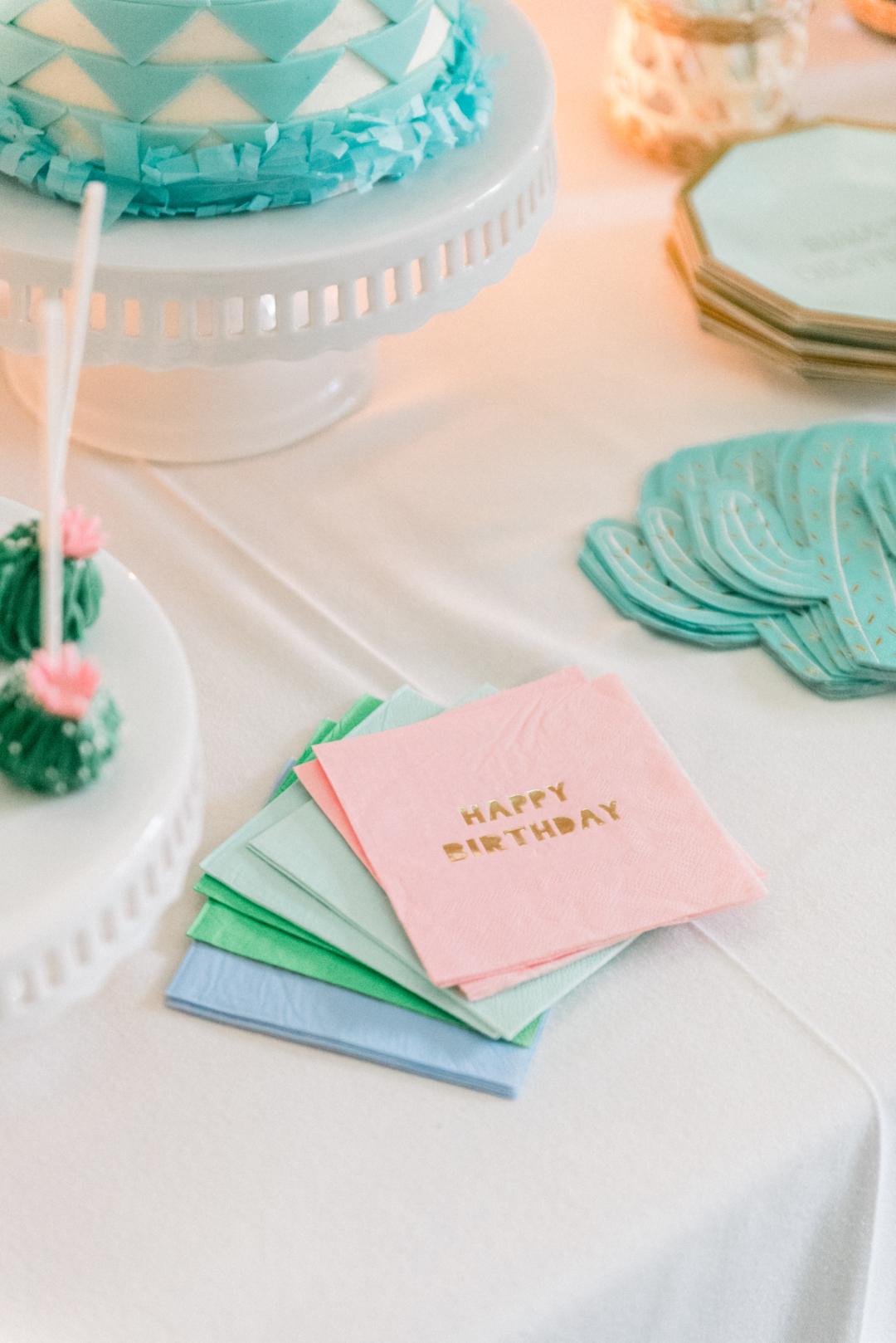 happy birthday napkins