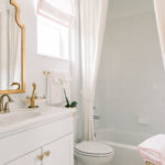 Home: Blush and Brass Bathroom