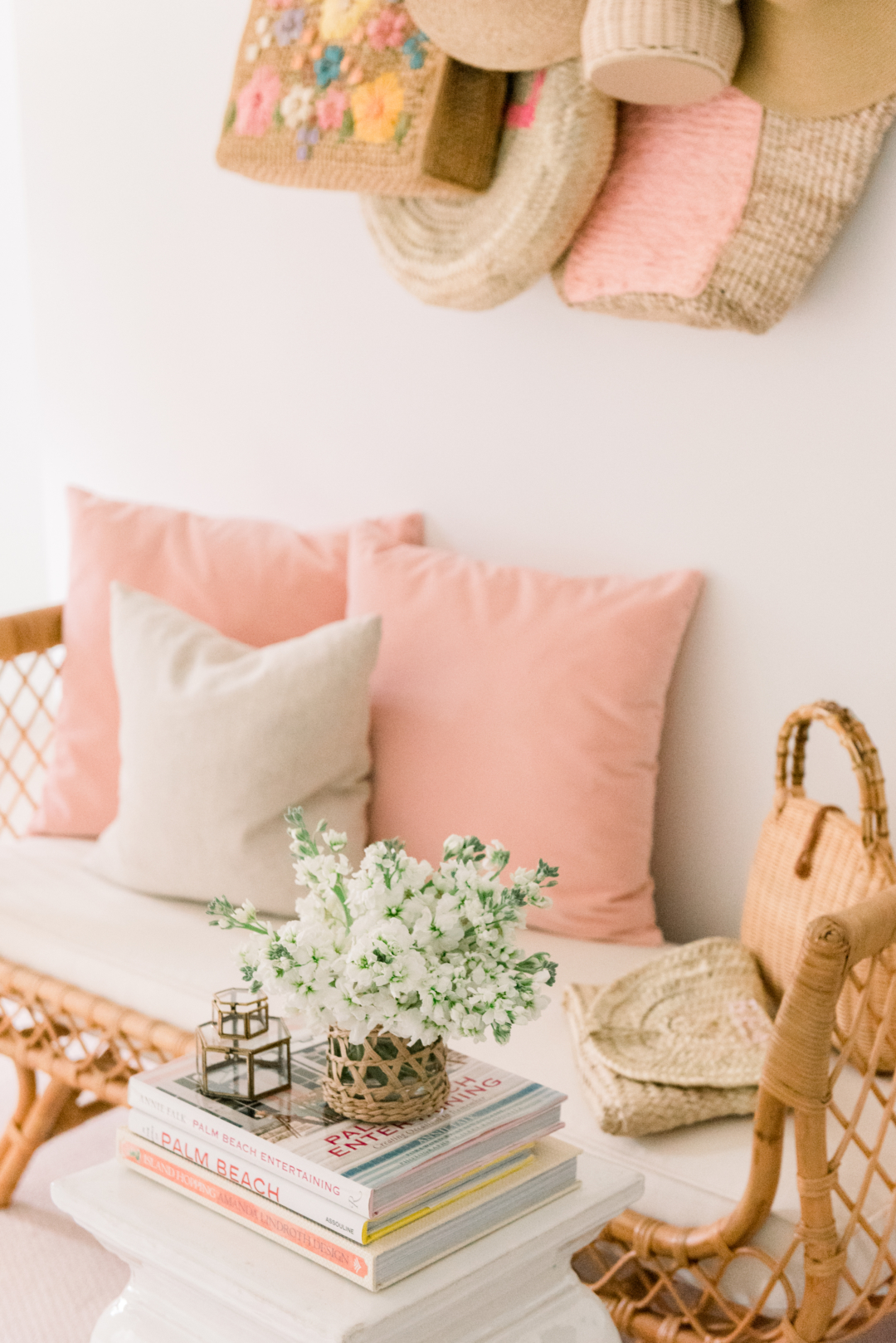 Blush bedroom pillow
