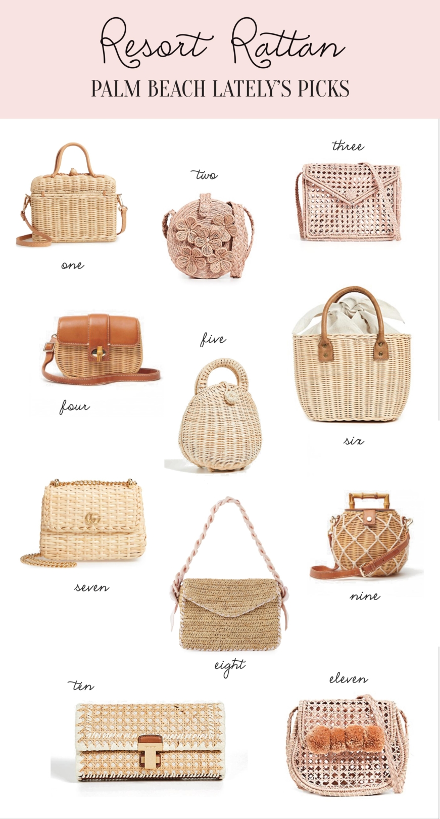 Palm Beach Lately Rattan and Wicker bags