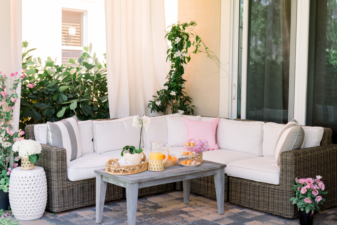 Home: Palm Beach Lately and Frontgate Patio Makeover