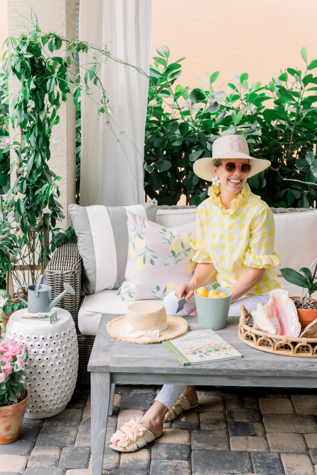 Home: Palm Beach Lately featuring Brooke and Lou's Blush Lemon Pillows