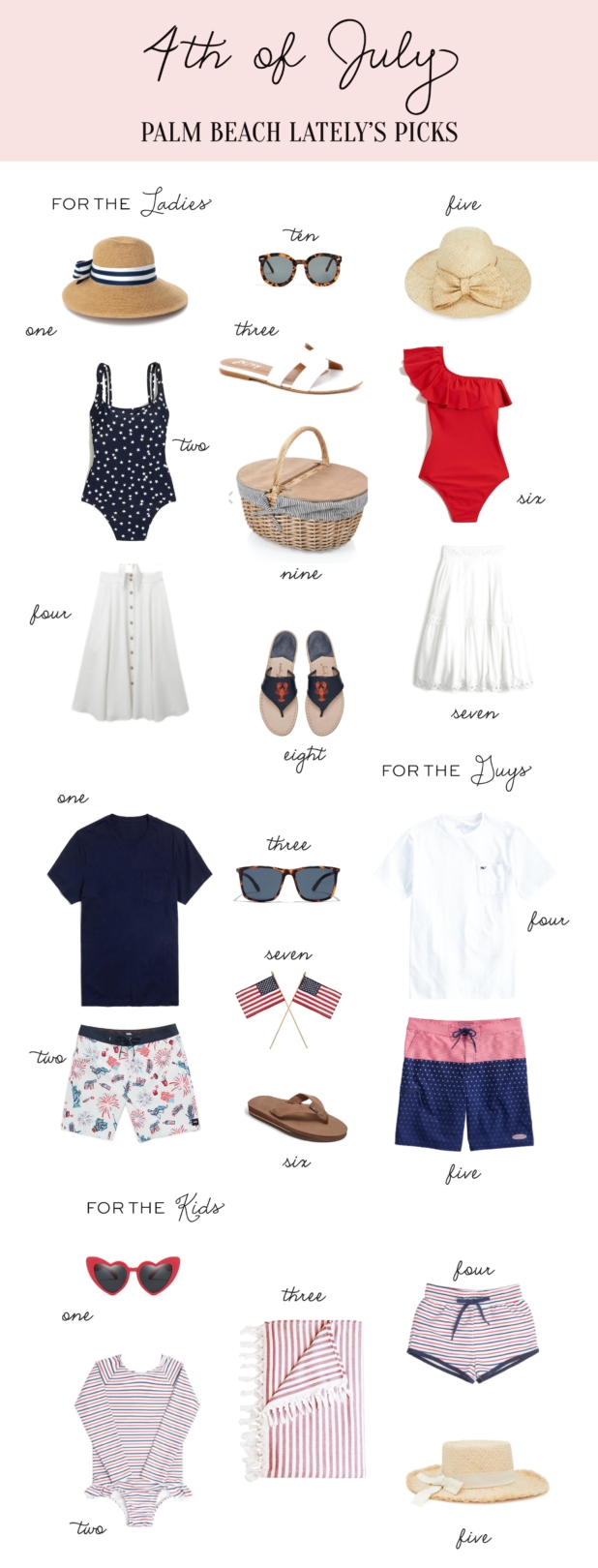 Palm Beach Lately 4th of July Looks for the Family