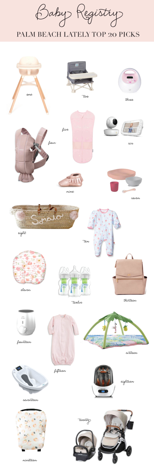 Palm Beach Lately Beth Baby Registry
