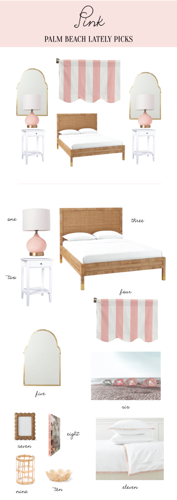 Rattan and Pink Guest Room