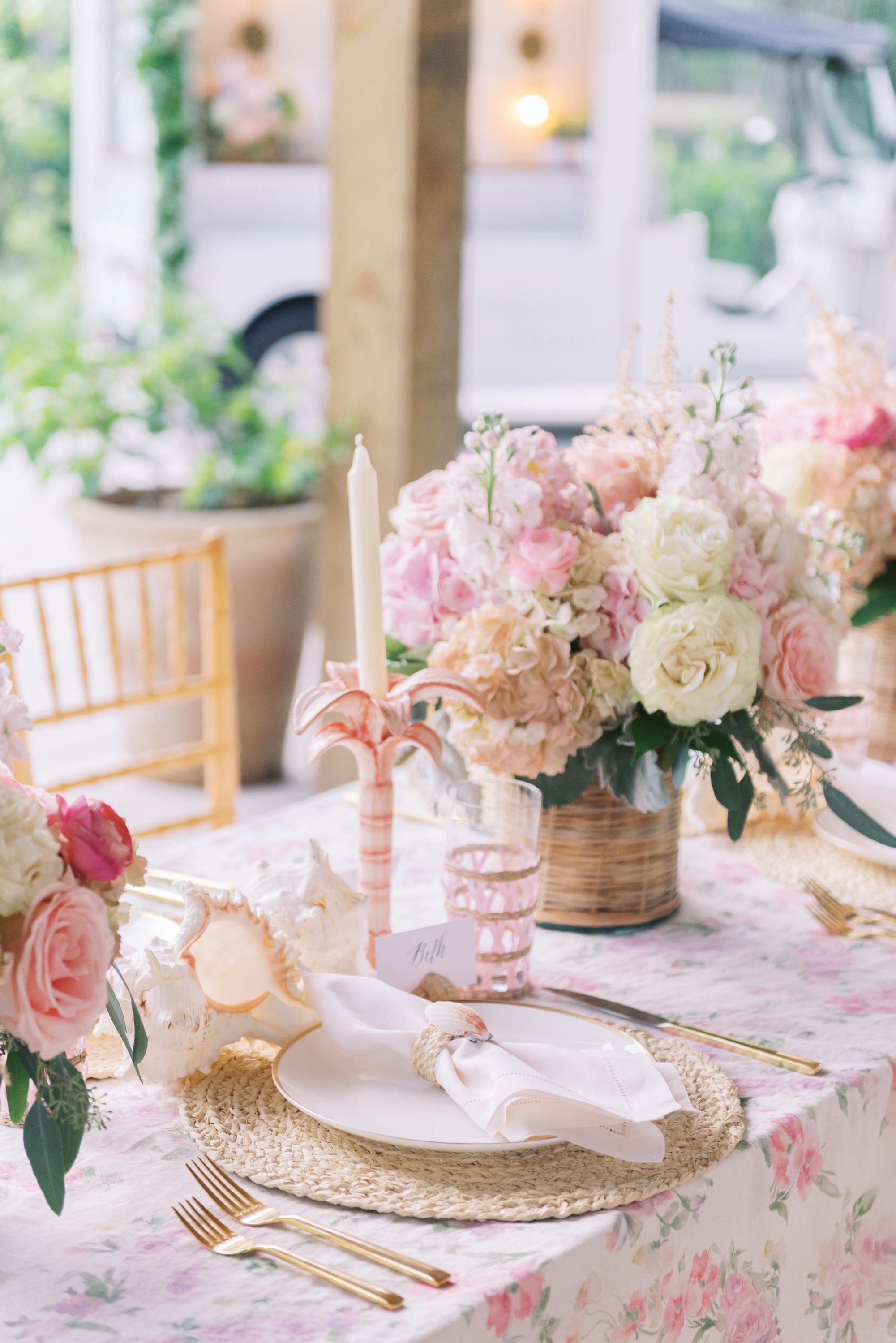 LoveShackFancy table linens